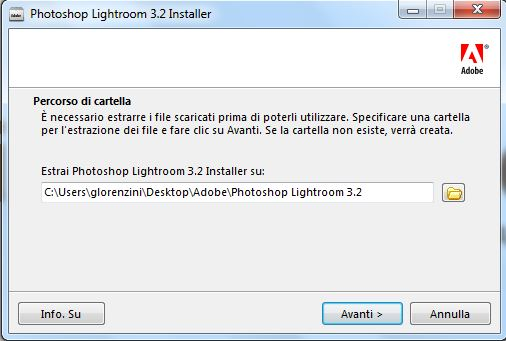 installazione lightroom step 1