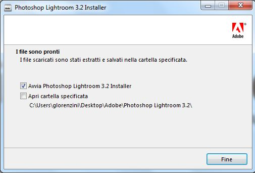 installazione lightroom step 2