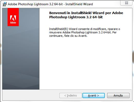 installazione lightroom step 4