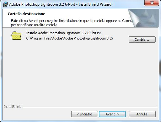 installazione lightroom step 6