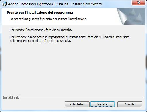 installazione lightroom step 7