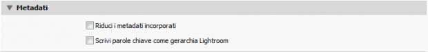 08-lightroom esportazione metadati