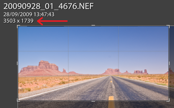 10 lightroom sovrapposizione ritaglio informazioni dimensioni ritaglio pixel