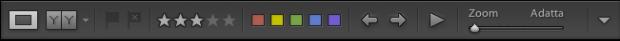 lightroom sviluppo barra strumenti completa