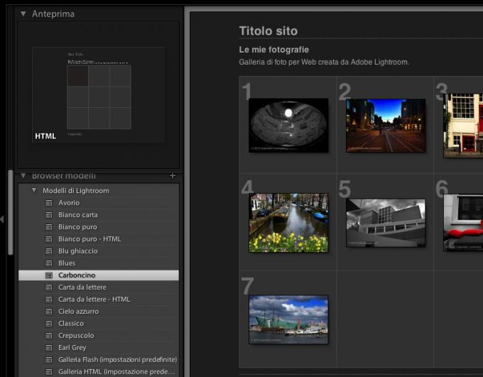 05 lightroom galleria web browser modelli