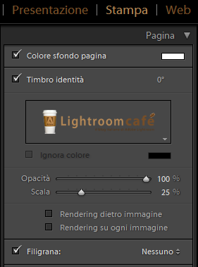 12 lightroom filigrana stampa pagina
