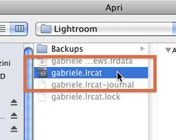 Come selezionare il catalogo di lavoro di Lightroom