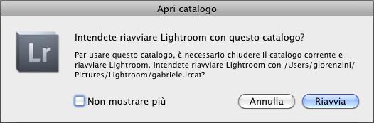 03 lightroom catalogo selezionare selezione scelta apri aprire
