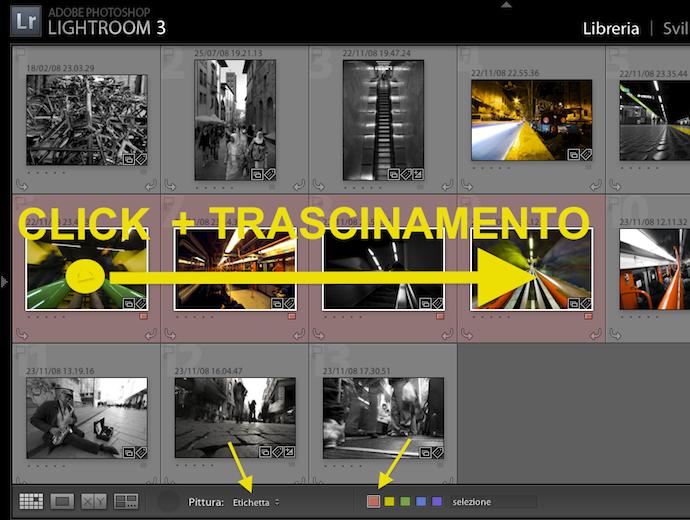 26 lightroom strumento pittore libreria griglia tag parola chiave valutazione etichetta raccolta preset