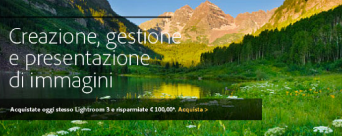lightroom offerta sconto