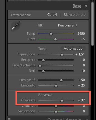 01 lightroom sviluppo chiarezza guida tutorial italiano
