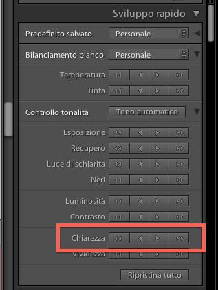 02 lightroom sviluppo chiarezza guida tutorial italiano
