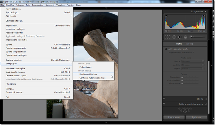 Lightroom plugin TPG LR Backup 02