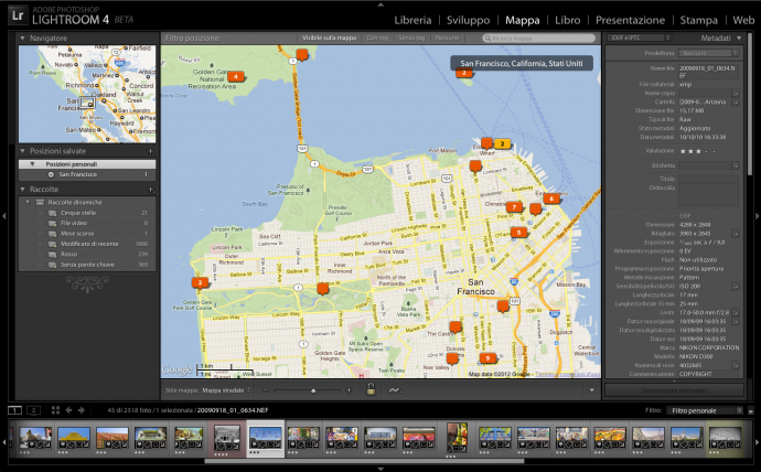01 lightroom 4 beta mappa geotag tutorial