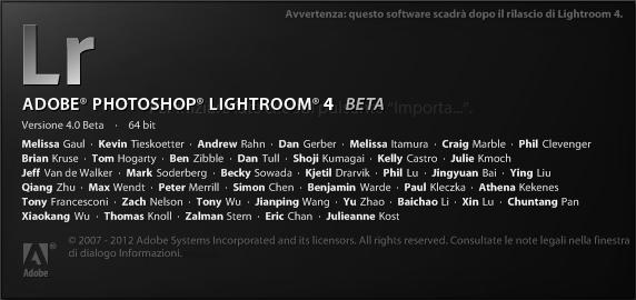 lightroom 4 beta pubblica download gratis