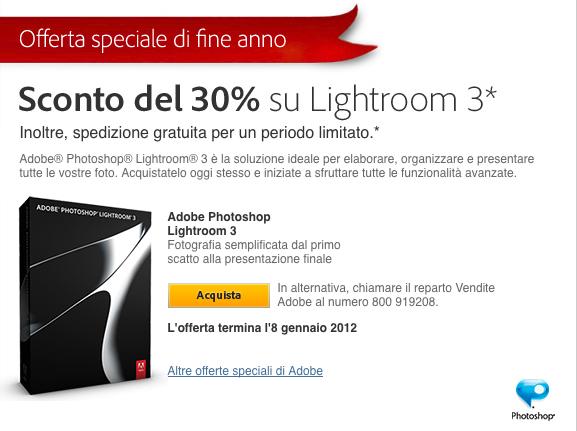 lightroom sconto acquisto