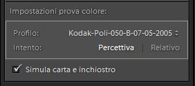 04 lightroom sviluppo prova colore monitor soft proofing profilo stampa stampante intento rendering