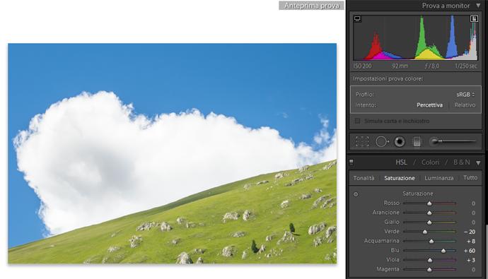 12 lightroom sviluppo prova colore monitor soft proofing profilo stampa stampante intento rendering