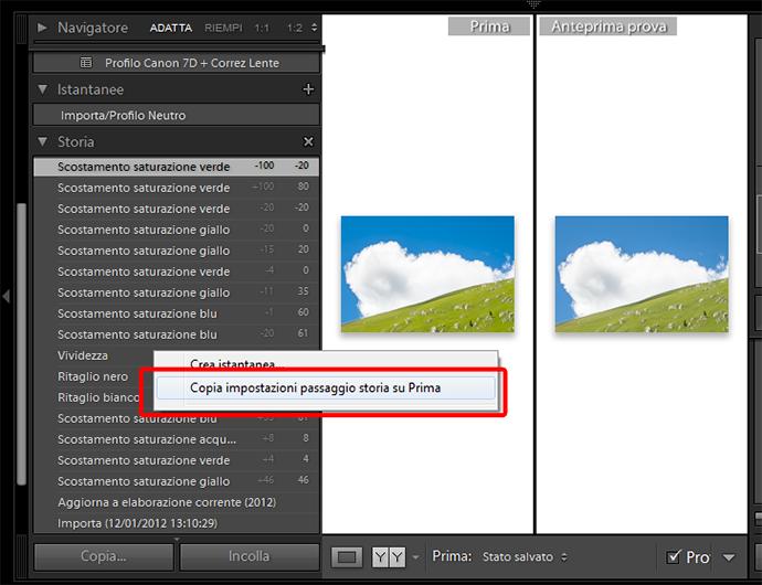 14 lightroom sviluppo prova colore monitor soft proofing profilo stampa stampante intento rendering