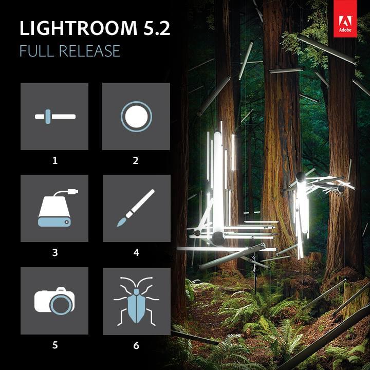 Arriva Lightroom 5.2 con alcuni miglioramenti e il supporto a nuove fotocamere e obiettivi