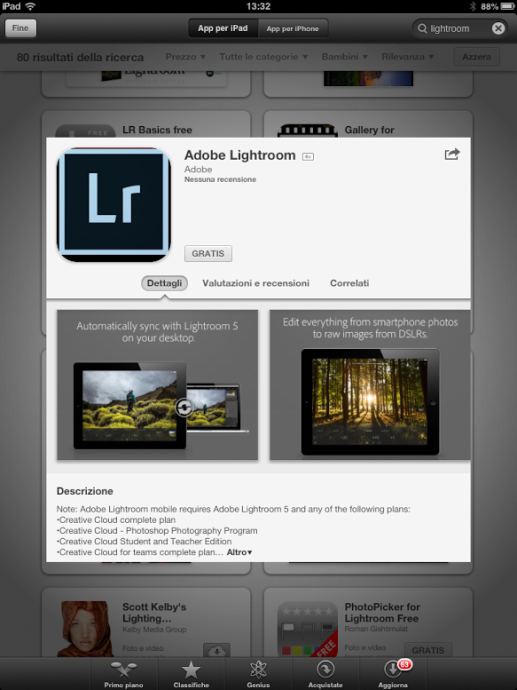 adobe lightroom mobile ipad tutorial guida gratis 06