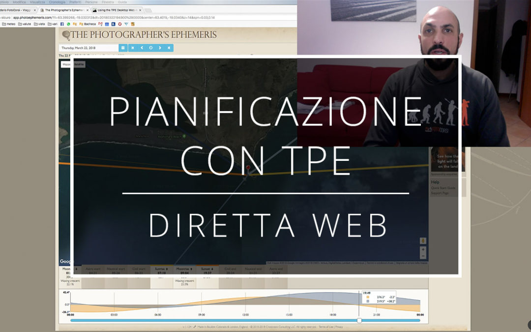 Videotutorial – Pianificazione uscite con TPE The Photographer's Ephemeris